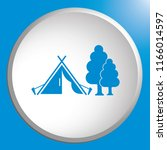 stylized icon of tourist tent.... | Shutterstock .eps vector #1166014597