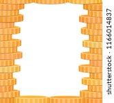 golden coins frame  place for... | Shutterstock .eps vector #1166014837