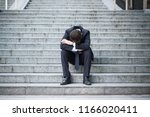 desperate alone businessman... | Shutterstock . vector #1166020411