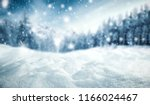 winter background of snow and... | Shutterstock . vector #1166024467