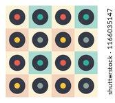 vinyl records seamless pattern... | Shutterstock .eps vector #1166035147