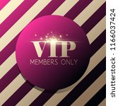 vip invitation with golden... | Shutterstock . vector #1166037424