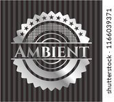 ambient silvery badge or emblem | Shutterstock .eps vector #1166039371