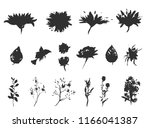 vector floral set. collection... | Shutterstock .eps vector #1166041387