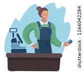 vector cartoon illustration of... | Shutterstock .eps vector #1166042284