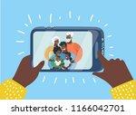 vector cartoon illustration of... | Shutterstock .eps vector #1166042701