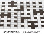 close up blank crossword | Shutterstock . vector #1166043694