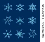 set of snowflakes. vector... | Shutterstock .eps vector #116604655