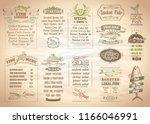fish menu set  seafood menu ... | Shutterstock .eps vector #1166046991