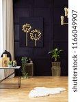 elegant living room interior... | Shutterstock . vector #1166049907