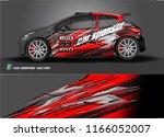 car decal design vector. modern ... | Shutterstock .eps vector #1166052007