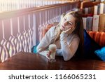 beautiful teenage young smiling ... | Shutterstock . vector #1166065231