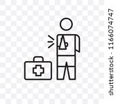 injury vector icon isolated on... | Shutterstock .eps vector #1166074747