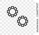 settings vector icon isolated... | Shutterstock .eps vector #1166075437
