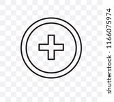 hospital vector icon isolated... | Shutterstock .eps vector #1166075974