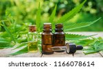 cannabis herb and leaves for... | Shutterstock . vector #1166078614
