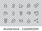 set of coffee and tea vector... | Shutterstock .eps vector #1166081044