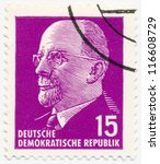 germany   circa 1963  a stamp... | Shutterstock . vector #116608729