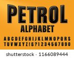 a font called petrol in raised... | Shutterstock .eps vector #1166089444
