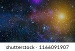 deep space. high definition... | Shutterstock . vector #1166091907