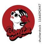 bonita. handwritten lettering.... | Shutterstock .eps vector #1166092447