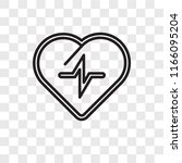 cardiogram vector icon isolated ... | Shutterstock .eps vector #1166095204