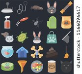 set of 25 icons such as cat ...