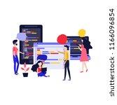 application development vector... | Shutterstock .eps vector #1166096854