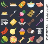 set of 25 icons such as cookies ...
