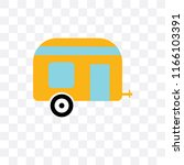 caravan vector icon isolated on ... | Shutterstock .eps vector #1166103391