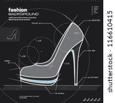 shoe design. woman shoes vector.... | Shutterstock .eps vector #116610415