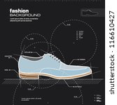 Shoe Design. Man Shoes Vector....