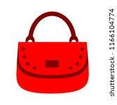 vector women bag or purse... | Shutterstock .eps vector #1166104774