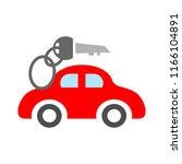 vector car rentals label  logo  ... | Shutterstock .eps vector #1166104891