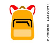 backpack icon. logo element... | Shutterstock .eps vector #1166104954