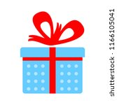 vector gift box illustration... | Shutterstock .eps vector #1166105041
