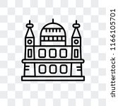 st. paul s cathedral vector... | Shutterstock .eps vector #1166105701