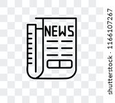 newspaper vector icon isolated... | Shutterstock .eps vector #1166107267