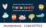 kids photo booth props set... | Shutterstock .eps vector #1166107921