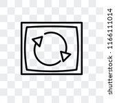 rotation vector icon isolated... | Shutterstock .eps vector #1166111014