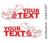 car racing auto logo line art... | Shutterstock .eps vector #116611207