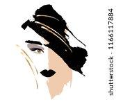 fatal brunette. woman's face... | Shutterstock .eps vector #1166117884