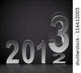 new year 2013 background glossy ...   Shutterstock .eps vector #116612005