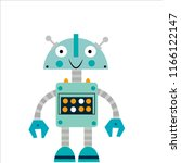 child robot of blue color.... | Shutterstock .eps vector #1166122147