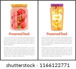 preserved food banners with... | Shutterstock .eps vector #1166122771