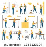 construction and working plan... | Shutterstock .eps vector #1166123104