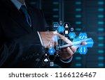 coding software developer work... | Shutterstock . vector #1166126467