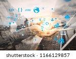 coding software developer work... | Shutterstock . vector #1166129857