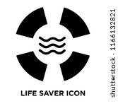 life saver icon vector isolated ... | Shutterstock .eps vector #1166132821