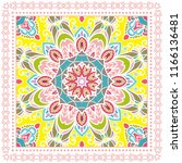 decorative colorful ornament on ... | Shutterstock .eps vector #1166136481